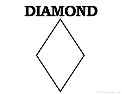 Shapes Printable Diamond Shape Cutouts | printable diamond shape print free diamond shape