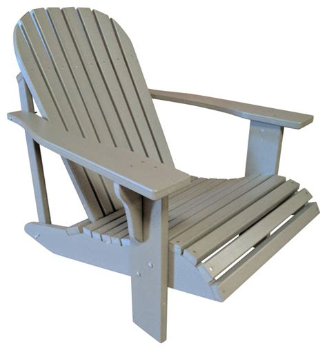 Poly Lumber Adirondack Chairs by The Outdoor Chair Poly Lumber Wide Classic Adirondack Chair Adirondack Chairs Houzz
