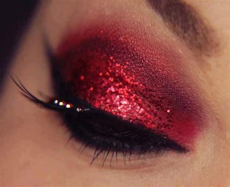 designboom pink eye red eye shadow hautelookholiday makeup beauty pinterest