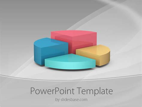 3d powerpoint template 3d pie chart powerpoint template slidesbase