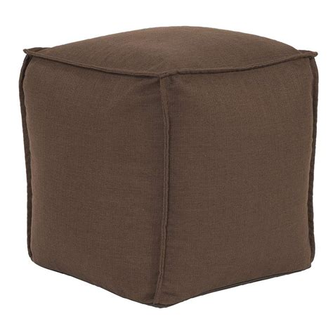 hassock ottoman footstool square pouf sterling chocolate howard elliott