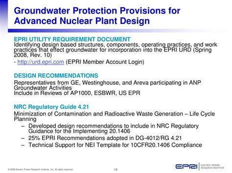 ppt the epri groundwater protection program technology
