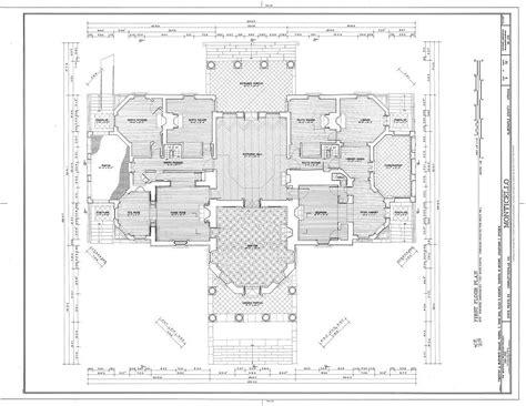 Monticello House Plans by Floor Jefferson Monticello