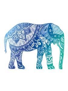 Indian Duvet Covers Quot Blue Elephant Quot Stickers By Adjsr Redbubble