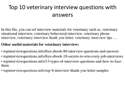 top 10 veterinary questions with answers