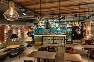 Cafeteria Kitchen Design D 233 Coration Vintage Les Suspensions Industrielles