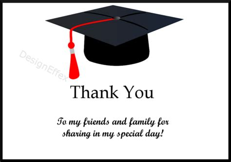 Graduation Thank You Card Templates Microsoft by Graduation Thank You Cards Designeffex