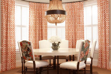 curtains for dining room windows orange curtains contemporary dining room at home in