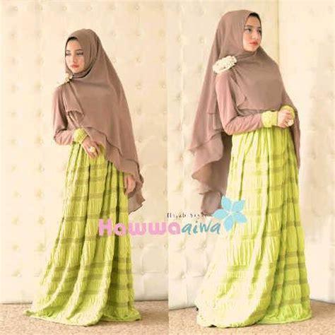 Gamis Syar I Cantik Saffa Syar I Lemon Murah al raana hijau lemon baju muslim gamis modern