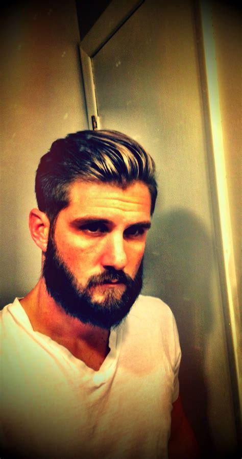 haircuts on beards modern men s hair cut undercut longer on top men with