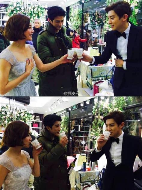 film exo chanyeol yuan shan shan beri kejutan saat syuting chanyeeol exo
