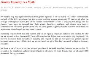 Gender Essay by Discrimination Thesis Statement