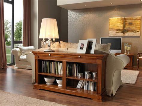 librero  detras de sofa en clasico