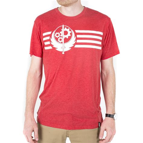 the bethesda store brotherhood of steel stripes t shirt