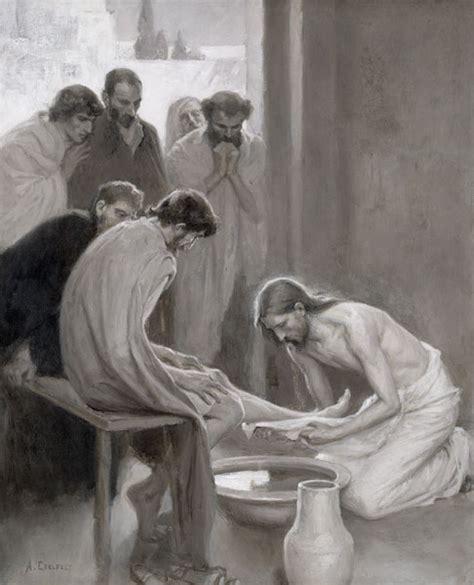 imagenes de jesus lavando los pies jes 250 s lavando los pies de sus disc 237 pulos albert edelfelt