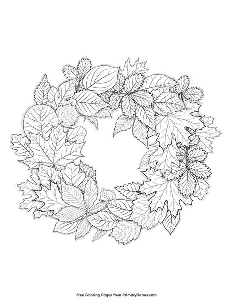 wreath coloring page fall wreath coloring page coloring pages