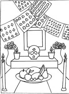 Dibujos Para Colorear Dia De Muertos Ii Mundo Noticias Day Of The Dead Altar Coloring Pages