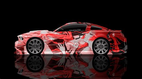 anime mustang ford mustang gt side anime aerography car 2014