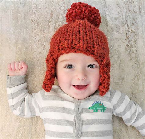 knitting pattern earflap hats for toddlers baby ear flap hat knitting pattern gina michele