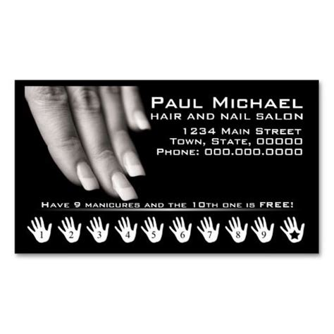 Nail Salon Business Card Template by Customer Loyalty Cards Nail Salon Loyalty Cards Nail
