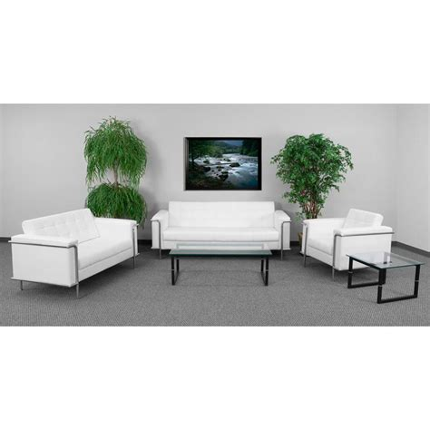 office reception furniture sets flash furniture zb lesley 8090 set wh gg white reception