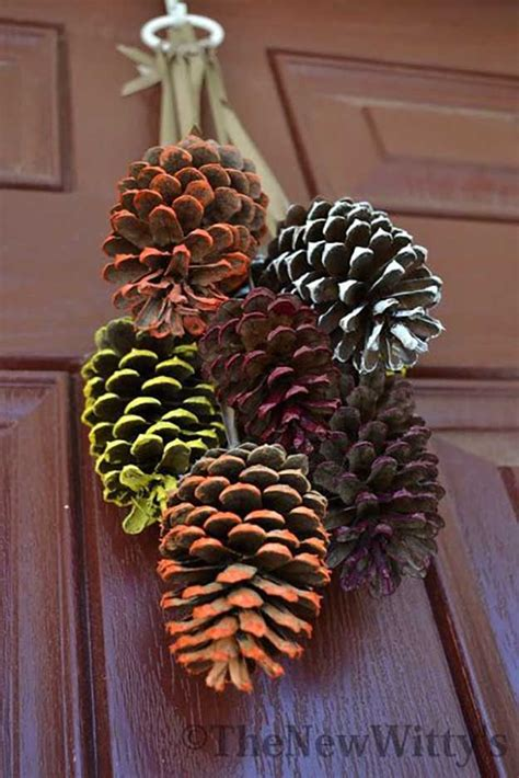diy decorations with pine cones 21 diy fall door decorations diy ready