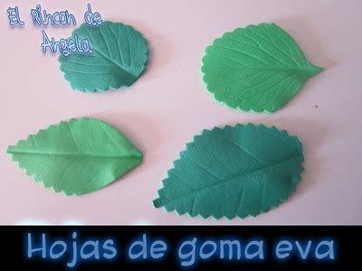 Diy Como Hacer Hojas Realistas De Goma Eva Para Flores | diy reciclando decoraciones para navidad my crafts and