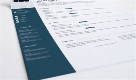 cv design john doe psd top 3 resume templates in february 2015