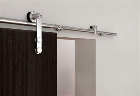 Sliding Closet Doors Hardware by European Modern Satin Stainless Steel Sliding Barn Wood