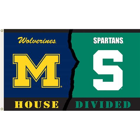 house divided michigan vs michigan state 3ft x 5ft team flag house divided rivalry design