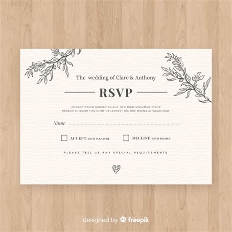 Free Wedding rsvp card SVG DXF EPS PNG   Free SVG Files