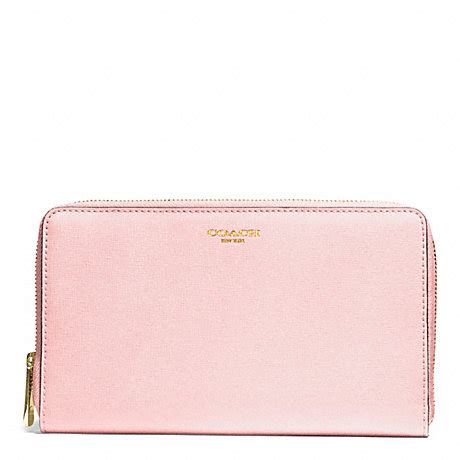 light pink coach wallet coach f50285 saffiano leather continental zip wallet