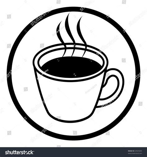 Cartoon Vector Outline Illustration Coffee Cup Stock Vector 63925045   Shutterstock