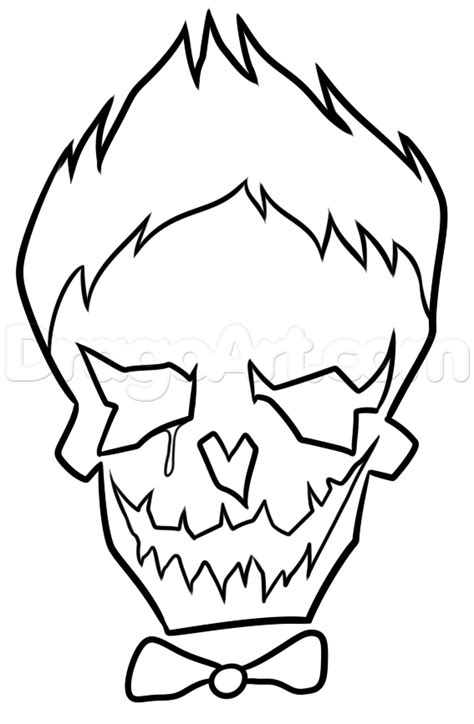 printable coloring pages joker suicide squad joker skull coloring cute coloring pages