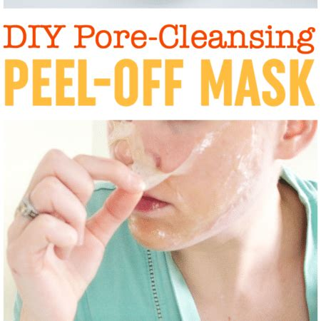 pore cleansing mask diy diy peel mask pore cleansing blackhead busting mask