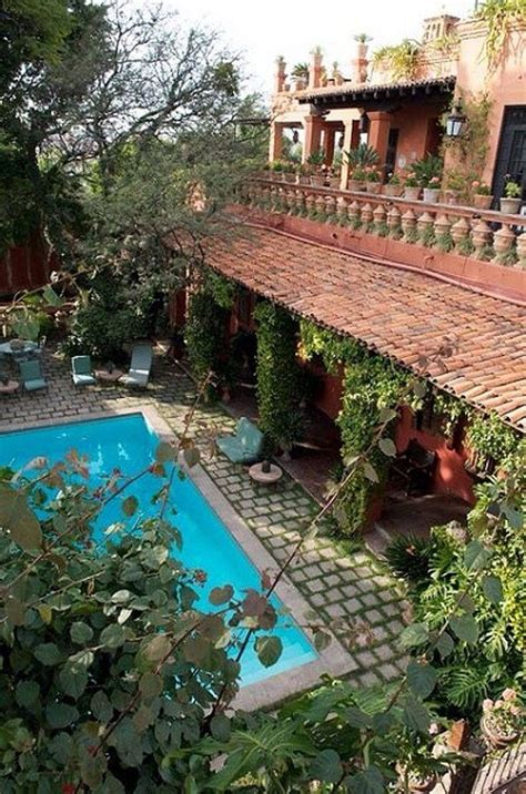 spanish colonial homes central courtyard pool pool best 25 hacienda homes ideas on pinterest spanish