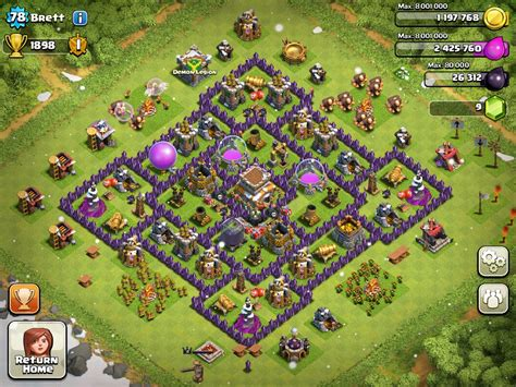 best th8 base th8 clyde clan headquarters