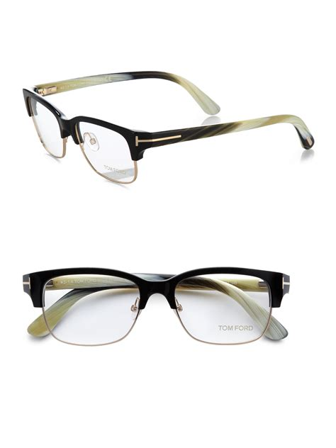 tom ford acetate metal optical frames in multicolor for