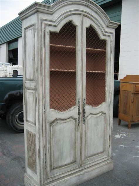 Distressed White Armoire by White Distressed Armoire Armoires Cabinets