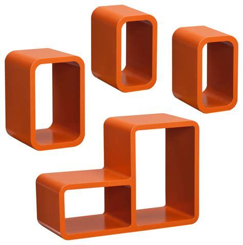 Orange Wall Shelf by Upton Home Tullos Orange 4 Shelf Set