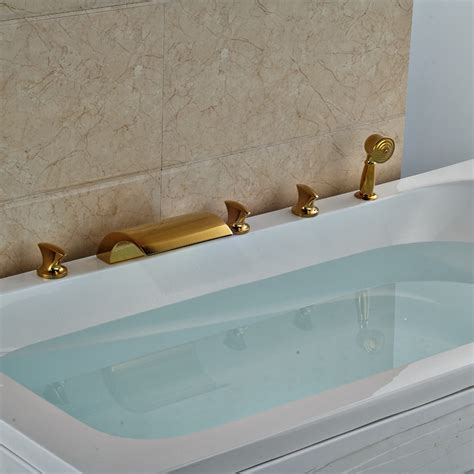 bathtub waterfall buy hamilton deck mount triple handle 5 piece bathtub