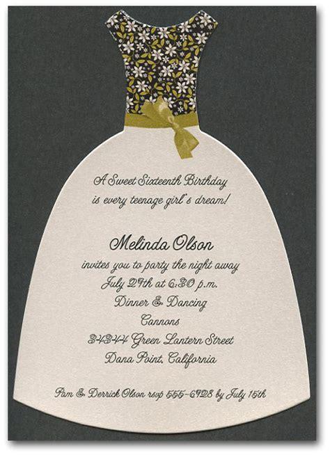 bridal shower invitation dress code chartreuse black floral diecut dress on shimmery black invitations