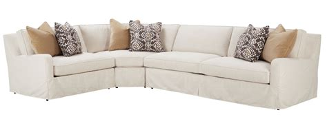slipcovered sectional slipcovered fitted back sectional sofa w slope arms