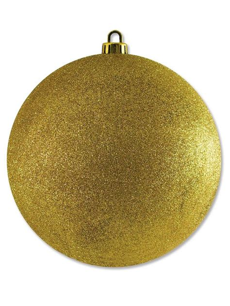 large glittered gold bauble decoration 20cm large