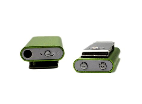 Mini Mp3 Player Green mini stainless steel shell clip player 4gb green yellow