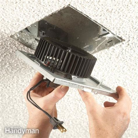 how to replace bathroom exhaust fan how to install an exhaust fan family handyman