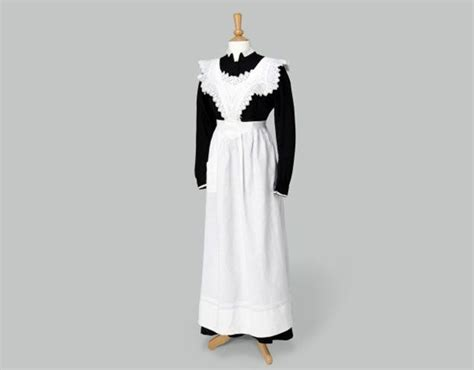 pattern for downton abbey apron maids uniform black dress with white apron photo credit