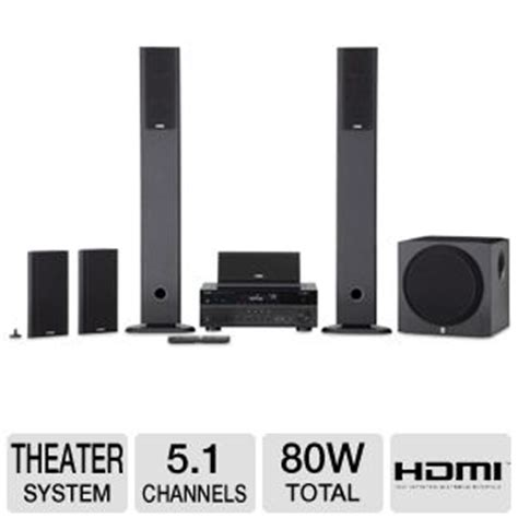 yamaha yht 897bl home theater system 5 1 channel 80w
