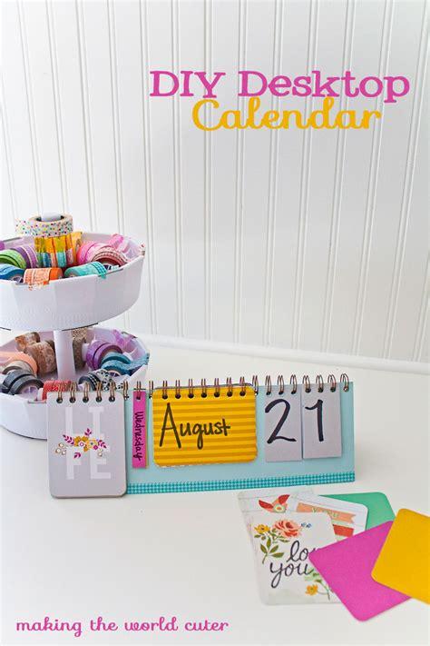 diy desk calendar diy desktop calendar