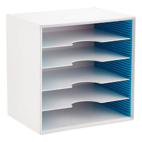 paper sorter shelves adjustable paper sorters the container store